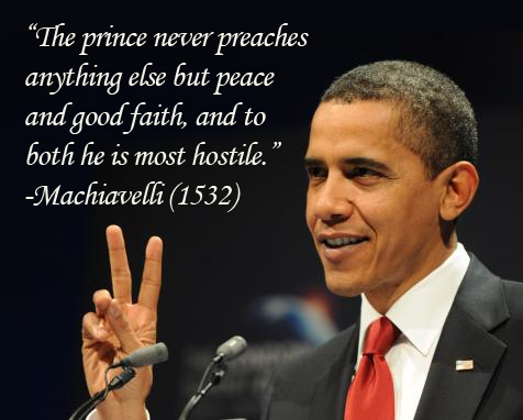 Tyrant Obama preaches false peace